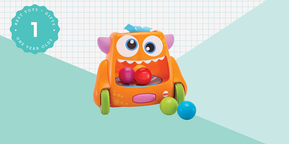 """<p>It's hard to find toys for 1-year-olds. Kids in this age group are not infants, and just barely toddlers. They're starting to grow out of <a href=""""https://www.goodhousekeeping.com/holidays/christmas-ideas/g23610311/baby-gifts/"""" rel=""""nofollow noopener"""" target=""""_blank"""" data-ylk=""""slk:baby toys"""" class=""""link rapid-noclick-resp"""">baby toys</a>, which have to do little to impress but crinkle, rattle and offer a soft part to chew. Now, 1-year-olds want a little more stimulation. But most toys that have interesting parts also pose possible choking hazards, which relegates them to kids older than 3. On top of that, some toys can offer dicey marketing claims: Promises about promoting better development or being made from better, less toxic materials. </p><p>That makes finding the best toys for this age group a particular challenge. We tapped veteran parents and toy testing experts at the <a href=""""http://www.goodhousekeeping.com/institute/about-the-institute/"""" rel=""""nofollow noopener"""" target=""""_blank"""" data-ylk=""""slk:Good Housekeeping Institute"""" class=""""link rapid-noclick-resp"""">Good Housekeeping Institute</a> to weigh in with their favorite toys for 12-month-olds. These picks hold up to the less-than-gentle treatment they get from their charges, won't drive parents crazy and — most important of all — are new-toddler-approved. So next time you're invited to a <a href=""""https://www.goodhousekeeping.com/life/parenting/g25439525/first-birthday-party-ideas/"""" rel=""""nofollow noopener"""" target=""""_blank"""" data-ylk=""""slk:1-year-old birthday party"""" class=""""link rapid-noclick-resp"""">1-year-old birthday party</a>, a first Christmas, or another present-giving occasion, check this list of gifts for 1-year-olds and feel confident in your choices.<br> <br>Read on for the <strong>best toys and gifts for 1-year-olds</strong> in 2020 — but don't forget to check out <a href=""""https://www.goodhousekeeping.com/holidays/gift-ideas/g203/gifts-for-kids/"""" rel=""""nofollow noopener"""" target=""""_blank"""" data-ylk=""""slk:Good Ho"""