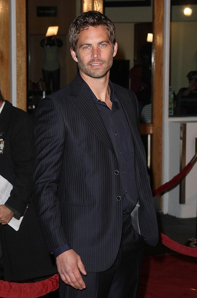 """<a href=""""http://movies.yahoo.com/movie/contributor/1800019262"""">Paul Walker</a> at the Los Angeles premiere of <a href=""""http://movies.yahoo.com/movie/1809989992/info"""">Fast & Furious</a> - 03/12/2009"""