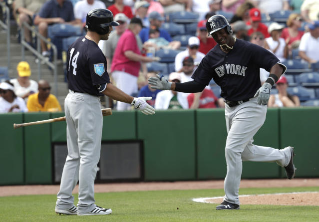 This is not a drill, fantasy owner. Miguel Andujar is on his way to the bigs, at least for a little while. (AP Photo/Lynne Sladky)