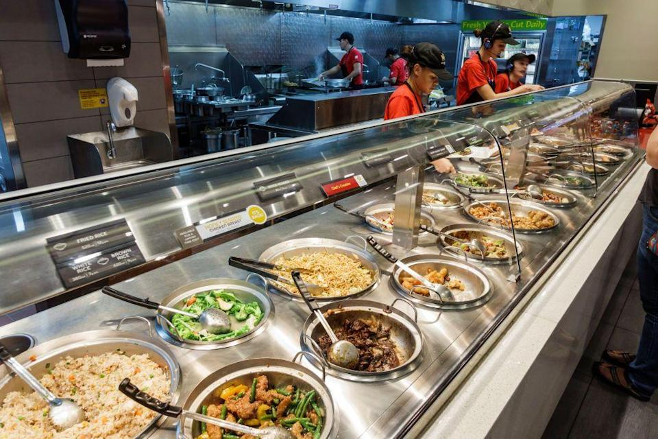 "<p>""I work at Panda Express and you should never order orange chicken. Yeah it might be the most popular item, but sometimes when it isn't busy, and the food get dried up, we put uncooked sauce on it to make it more moisturized. Even my manager says its ok, as long as I do not do it in front of the customers. Panda Express is disgusting..."" — <em><a href=""https://www.reddit.com/r/AskReddit/comments/4c2hat/fast_food_workerswhat_should_we_never_order_from/d1fhdr8/"" rel=""nofollow noopener"" target=""_blank"" data-ylk=""slk:Sup3rh3r0_31"" class=""link rapid-noclick-resp"">Sup3rh3r0_31</a></em></p><p>""Most of the food at Panda Express is kept in a more sanitary environment than you would expect but I wouldn't get the mixed veggies, fairly often we would get shipments of carrots that were clearly bad, like gooey and moldy but I was told to cut around the gross parts and then the carrots still got used."" — <em><a href=""https://www.reddit.com/r/AskReddit/comments/78qs1c/restaurant_chain_workers_what_dish_should_we_not/dowbziz/"" rel=""nofollow noopener"" target=""_blank"" data-ylk=""slk:ShorforAlec"" class=""link rapid-noclick-resp"">ShorforAlec</a></em></p>"