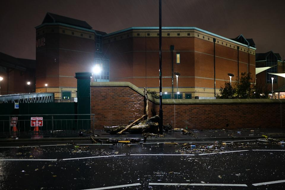 The Meadowhall shopping centre in Sheffield, South Yorkshire, last night. (SWNS)