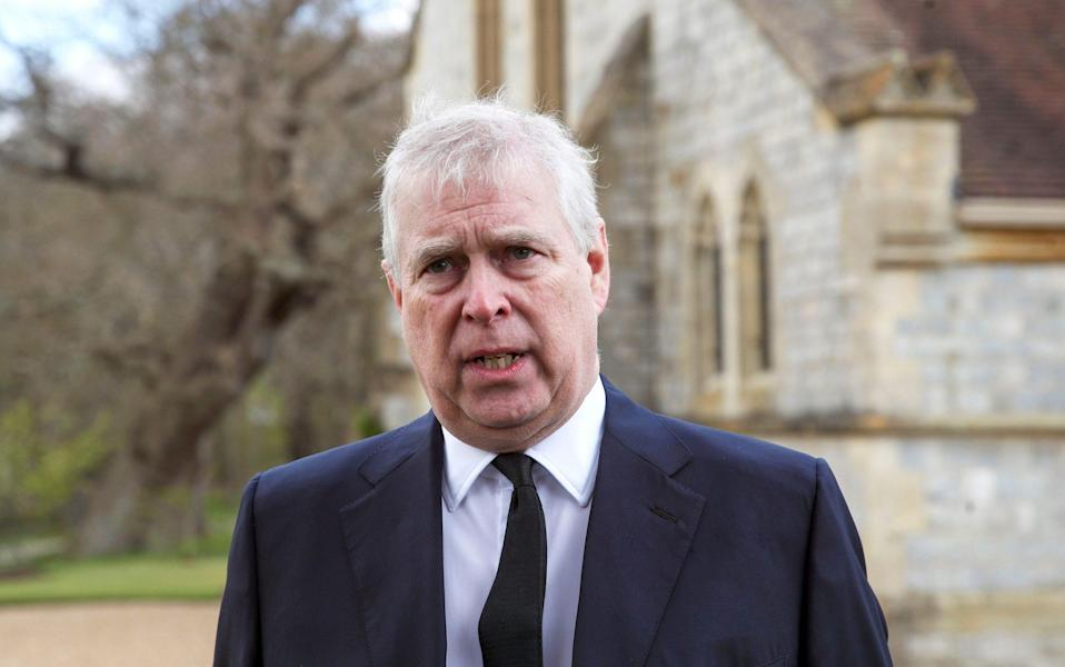 Prince Andrew, Duke of York, attends the Sunday Service at the Royal Chapel of All Saints, Windsor - Steve Parsons/Getty Images Europe