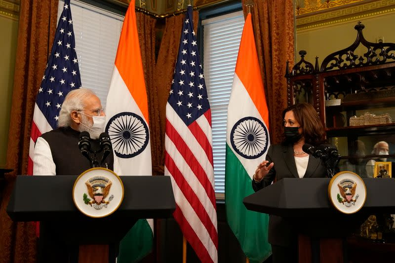 U.S. VP Harris meets with Indian PM Modi at White House