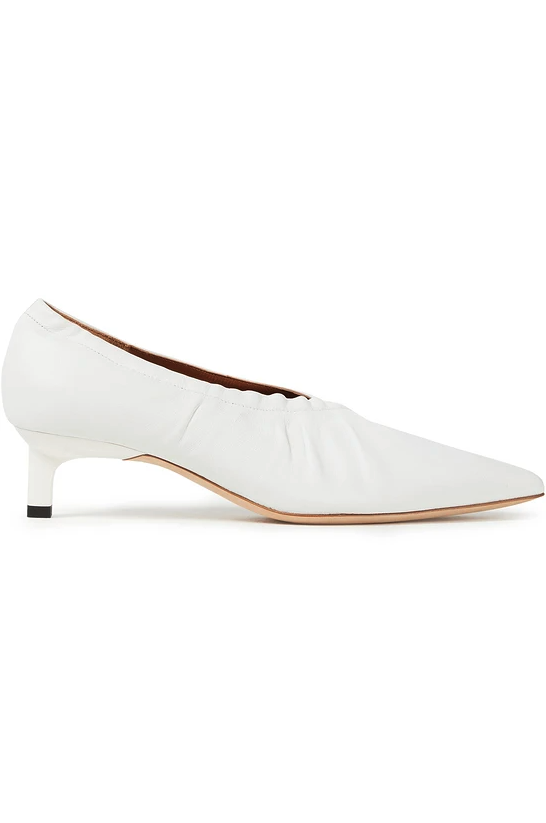 "<br><br><strong>Rejina Pyo</strong> Gathered Leather Pumps, $, available at <a href=""https://www.theoutnet.com/en-gb/shop/product/rejina-pyo/pumps/mid-heel-pumps/gathered-leather-pumps/6630340696486522?tp=175320&cm_mmc=PartnerizeUK&EU&utm_campaign=shopstyleukmain&utm_medium=affiliation&utm_source=PartnerizeUK&EU&shopstyleukmain=shopstyleukmain"" rel=""nofollow noopener"" target=""_blank"" data-ylk=""slk:The Outnet"" class=""link rapid-noclick-resp"">The Outnet</a>"