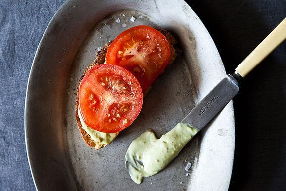 """<div class=""""caption-credit""""> Photo by: James Ransom</div><div class=""""caption-title"""">A Tomato Sandwich Worthy of a Little Bacon</div>As inpatskitchen says, the aioli is so good that """"even when the tomatoes are not quite at their peak,"""" you'll be craving this sandwich. - A&M <br> <i><b><a rel=""""nofollow noopener"""" href=""""http://www.food52.com/recipes/17710_a_tomato_sandwich_worthy_of_a_little_bacon"""" target=""""_blank"""" data-ylk=""""slk:Get the recipe"""" class=""""link rapid-noclick-resp"""">Get the recipe</a></b>.</i>"""