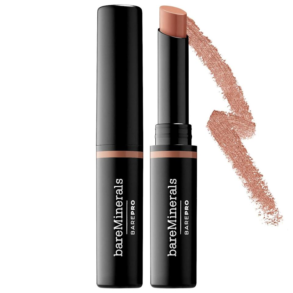 "<p>This <a href=""https://www.popsugar.com/buy/BareMinerals-Barepro-16-Hr-Full-Coverage-Concealer-573259?p_name=BareMinerals%20Barepro%2016-Hr%20Full%20Coverage%20Concealer&retailer=sephora.com&pid=573259&price=24&evar1=bella%3Auk&evar9=47465079&evar98=https%3A%2F%2Fwww.popsugar.com%2Fbeauty%2Fphoto-gallery%2F47465079%2Fimage%2F47465082%2FBareMinerals-Barepro-16-Hr-Full-Coverage-Concealer&list1=sephora%2Cconcealer%2Cbeauty%20shopping&prop13=api&pdata=1"" class=""link rapid-noclick-resp"" rel=""nofollow noopener"" target=""_blank"" data-ylk=""slk:BareMinerals Barepro 16-Hr Full Coverage Concealer"">BareMinerals Barepro 16-Hr Full Coverage Concealer</a> ($24) smooths over any dark circles or blemishes while its antioxidant-rich ingredients defend skin against environmental stressors at the same time. The creamy stick format - with more than 2,000 reviews from other shoppers - makes it easy to sweep wherever it's needed, and the brand's Mineral Lock long-wear technology means it stays put no matter what your day holds. </p>"