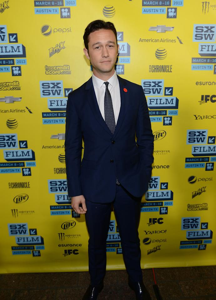 "AUSTIN, TX - MARCH 11:  Director Joseph Gordon-Levitt \arrives to the screening of ""Don Jon's Addiction"" during the 2013 SXSW Music, Film + Interactive Festival at the Paramount Theatre on March 11, 2013 in Austin, Texas.  (Photo by Michael Buckner/Getty Images for SXSW)"