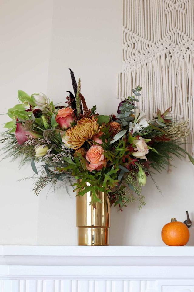 "<p>When it comes to autumn, vibrant blooms are probably not the first thing that come to mind, but it's to rethink your view. The varieties of <a href=""http://www.elledecor.com/life-culture/entertaining/g2783/thanksgiving-centerpieces-and-flowers/"" target=""_blank"">lush fall arrangements</a> are endless, and everything from colorful berry branches to petals in plum hues are perfect options for celebrating the season in style. </p><p>If you're looking for unique fall flower arrangements, consider this roundup of ideas from top florists, bloggers, and more. They're sure to inspire you to experiment with bold colors, unique vases, and untraditional flowers. <br></p>"