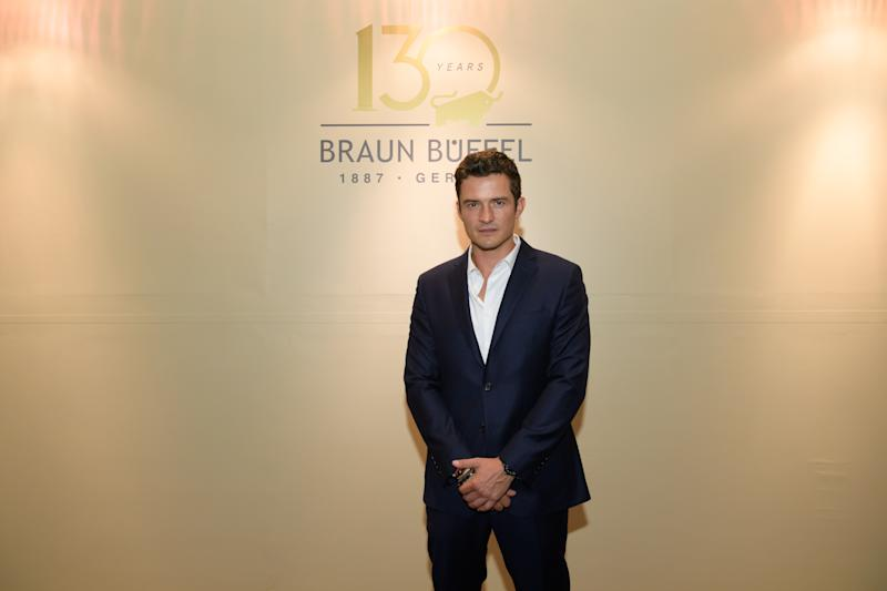 SINGAPORE ONLY - Orlando Bloom on the red carpet at Braun Büffel's 130th Year Anniversary Celebrations (Photo: Braun Büffel)