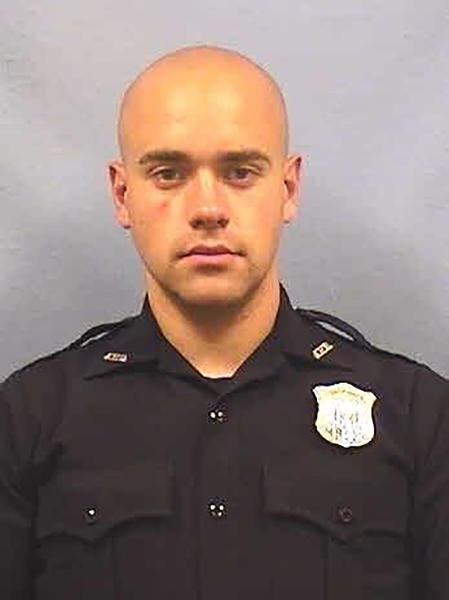 This undated photo provided by the Atlanta Police Department shows Officer Garrett Rolfe. Rolfe was fired following the fatal shooting of a black man and another officer was placed on administrative duty, the police department announced early Sunday, June 14, 2020. (Atlanta Police Department via AP)