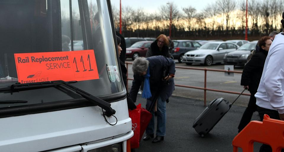 The number of rail replacement services increased last year (Picture: PA)