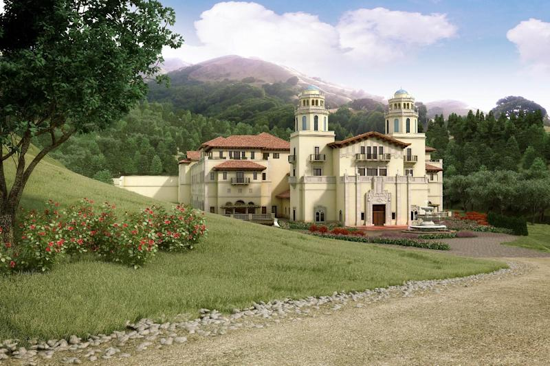 File - In this file photo of an artist rendering released by Lucas Films, a drawing of the proposed Industry Light & Magic campus, is shown. Lucasfilm Ltd., the force behind the Star Wars movies, said it has abandoned plans to build a big digital production studio on historic farmland in northern California, citing opposition from neighbors worried the environmental impact. The company owned by filmmaker GeorgeLucas said it planned to construct new facilities elsewhere. (AP Photo/Lucas Films, file)