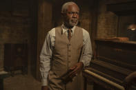"This image released by Netflix shows Glynn Turman in ""Ma Rainey's Black Bottom."" (David Lee/Netflix via AP)"