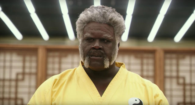 """Kazaam"" star Shaquille O'Neal stars alongside Kyrie Irving in the ""Uncle Drew"" movie. (Screen shot)"