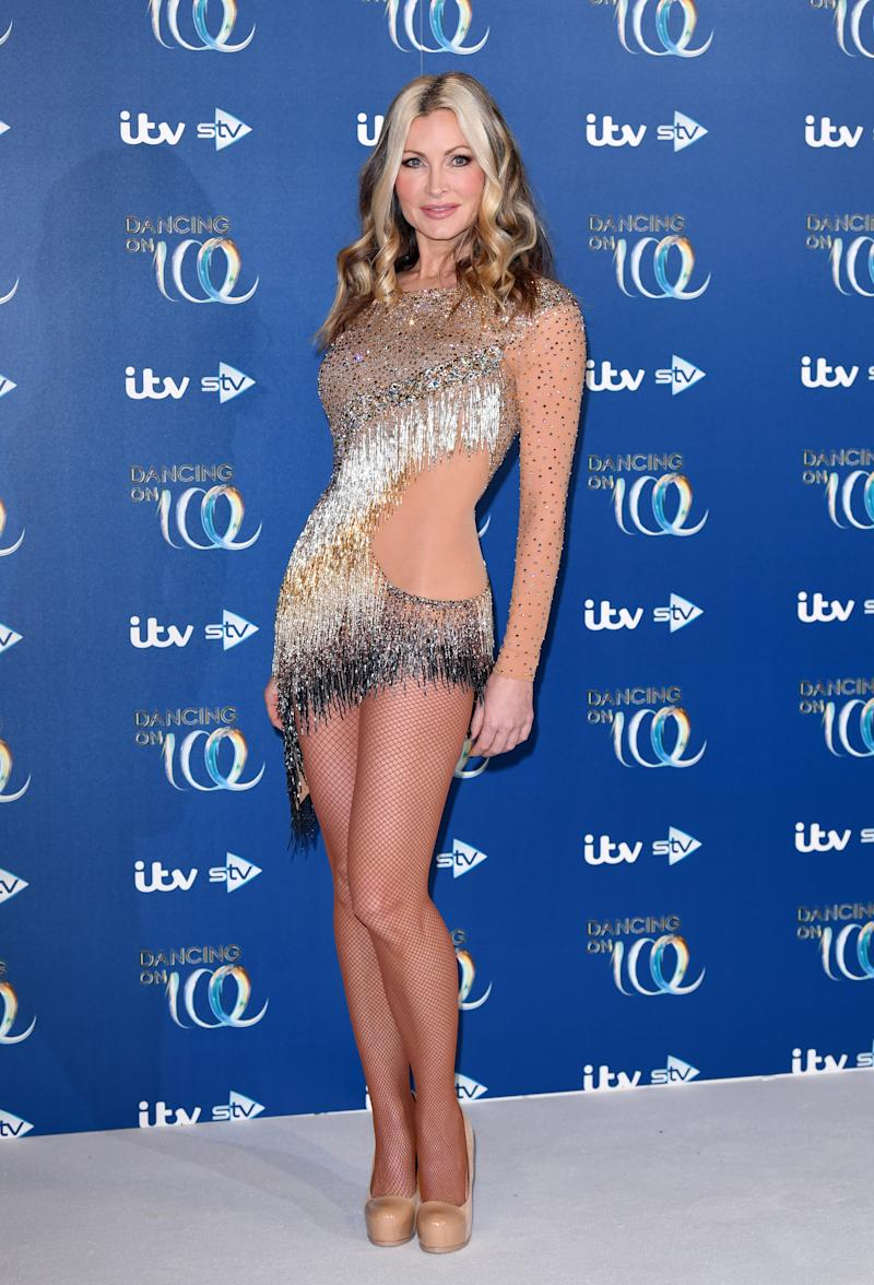 Caprice Bourret attends the Dancing On Ice 2019 photocall at the Dancing On Ice Studio, ITV Studios, Old Bovingdon Airfield on December 09, 2019 in Bovingdon, England. (Photo by Karwai Tang/WireImage)