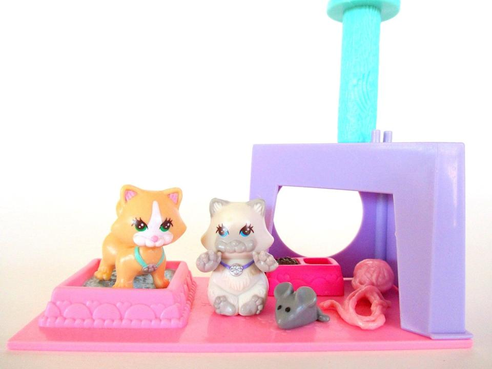 <p>Don't forget to find the original '90s Littlest Pet Shop! We love this <span>Littlest Pet Shop Cutesy Kittens With Kitten Playhouse Cat Playset 1992</span> ($27). </p>