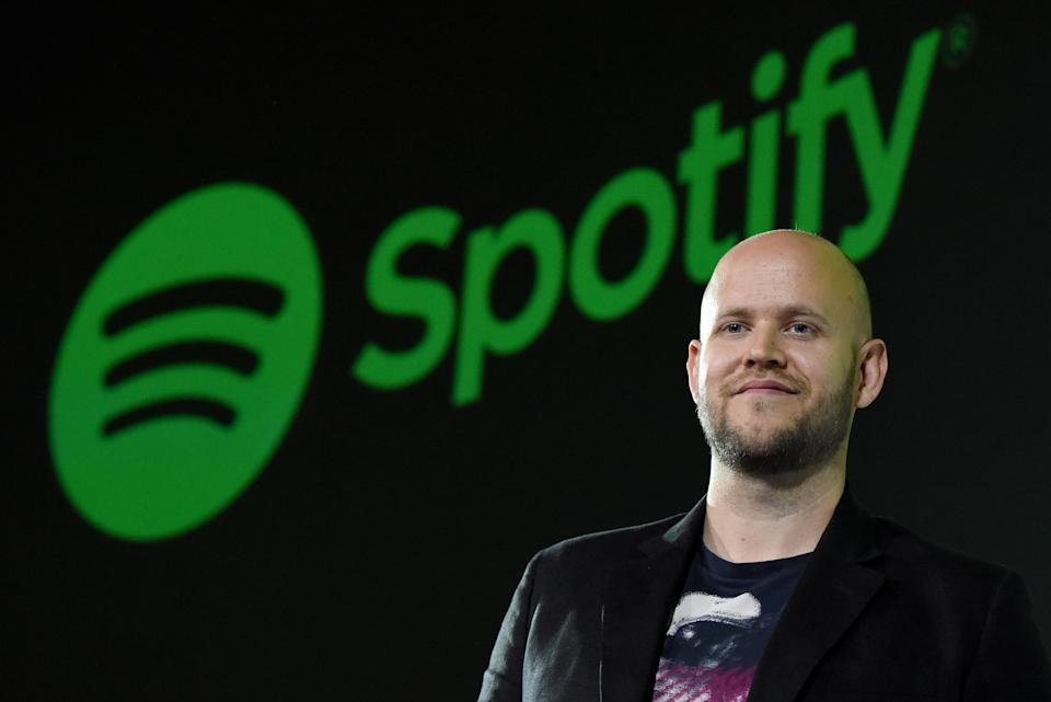 Daniel Ek, CEO of Swedish music streaming service Spotify, poses for photographers at a press conference in Tokyo on September 29, 2016.  Spotify kicked off its services in Japan on September 29. / AFP / TORU YAMANAKA        (Photo credit should read TORU YAMANAKA/AFP via Getty Images)