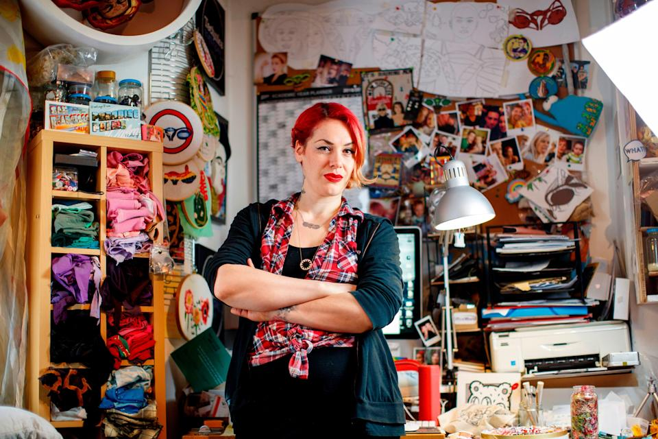 Jess de Wahls poses at her studio in south London (AFP via Getty Images)