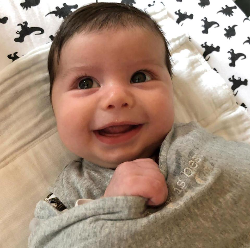 """""""I wish I looked like this right when I woke up!"""" proud dad Cohen <a href=""""https://www.instagram.com/p/BwfWgqtlJGz/"""" rel=""""nofollow noopener"""" target=""""_blank"""" data-ylk=""""slk:wrote"""" class=""""link rapid-noclick-resp"""">wrote</a>."""