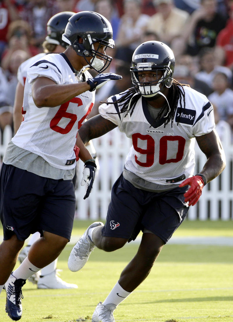 Top pick Clowney on field as Houston opens camp