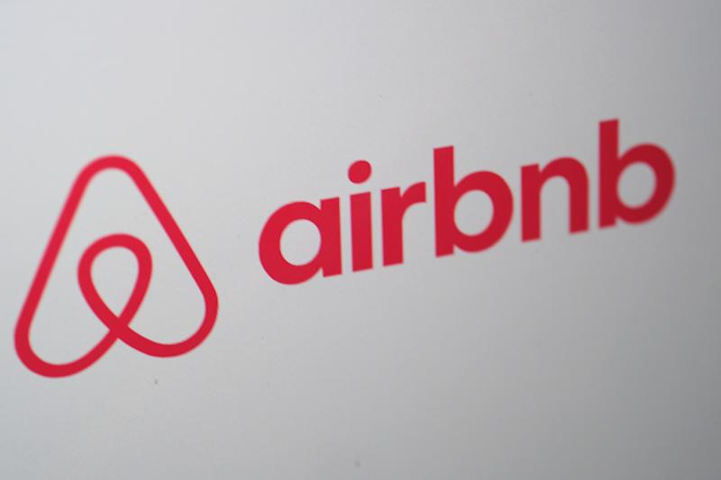KATWIJK, NETHERLANDS - APRIL 20: A logo of Airbnb is is displayed on a computer screen on April 20, 2020 in Katwijk, Netherlands. (Photo by Yuriko Nakao/Getty Images)