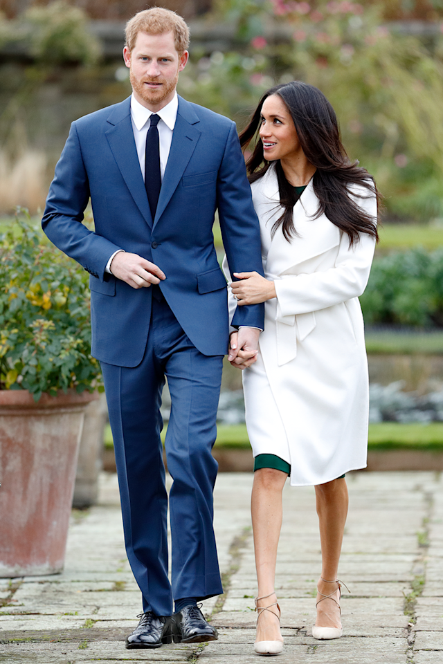 """<p>From the first moment she announced her engagement to Prince Harry, Meghan was changing it up. During their <a href=""""https://www.cosmopolitan.com/entertainment/celebs/a13936244/prince-harry-meghan-markle-engaged-first-appearance-ring-photos/"""" target=""""_blank"""">official photo session</a>, Meghan chose to (hold your gasps, please) not wear pantyhose. While this might seem like nothing special for most women under 85, it's highly unusual for a royal. Queen Elizabeth wears them, Kate Middleton wears them, and Princess Diana wore them. So while it may not be an official rule, it's definitely a <em>tradition</em>.</p>"""