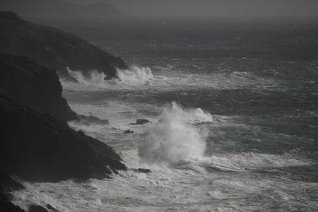 Rough seas are seen from Slea Head during Storm Ali in Coumeenoole, Ireland, September 19, 2018. REUTERS/Clodagh Kilcoyne