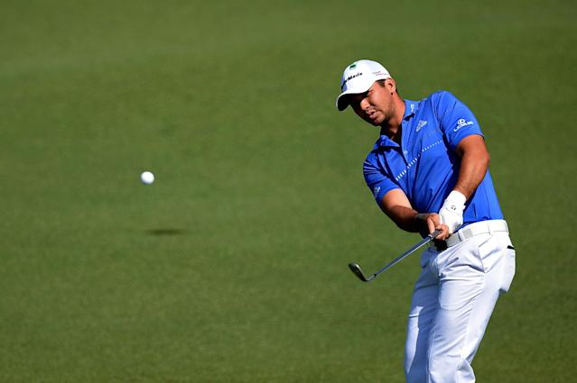 AUGUSTA, GA - APRIL 12: Jason Day of Australia hits a shot to the second green during the third round of the 2014 Masters Tournament at Augusta National Golf Club on April 12, 2014 in Augusta, Georgia. (Photo by Harry How/Getty Images)