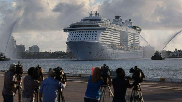PHOTO: The Royal Caribbean's Odyssey of The Seas arrives at Port Everglades on June 10, 2021, in Fort Lauderdale, Fla. (Joe Raedle/Getty Images)