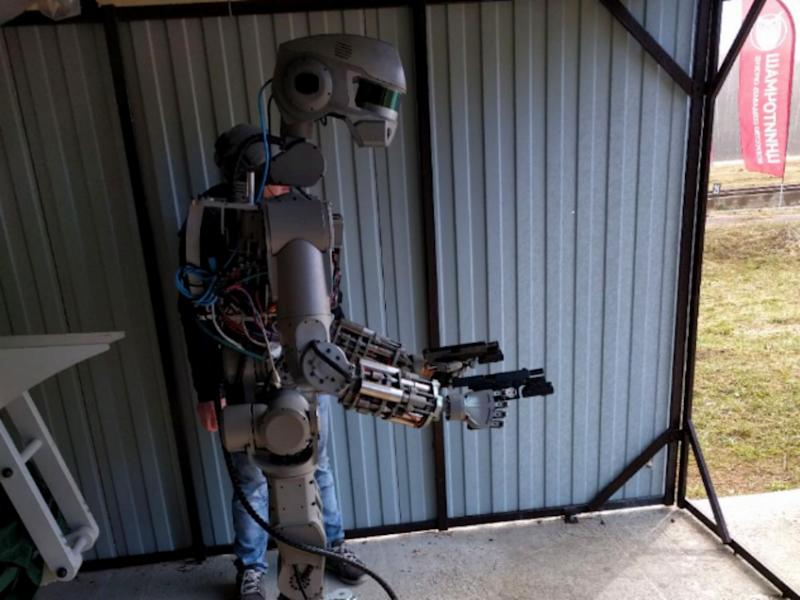 The robot was originally created for rescue work: Twitter/Dmitry Rogozin