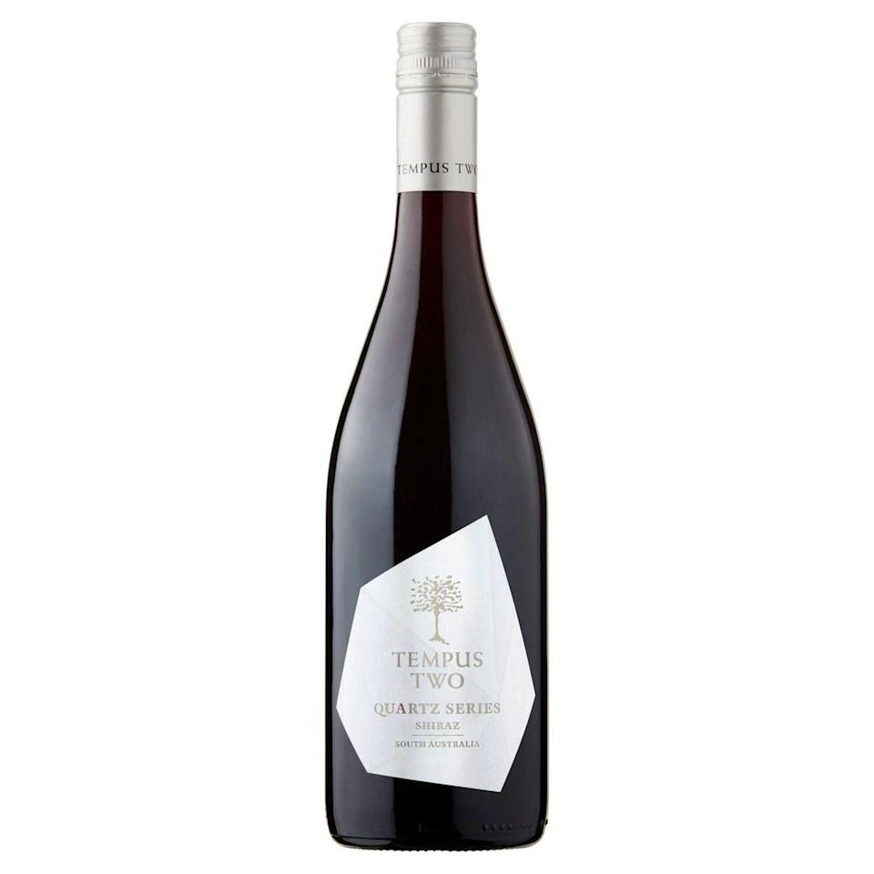 """<p>Combining notes of fresh ripe red fruits and spicy black pepper, this red is described as """"soft,"""" with """"well-integrated tannins.""""<br><br>Best served with grilled meats or smokey vegetables. </p><p><a class=""""link rapid-noclick-resp"""" href=""""https://go.redirectingat.com?id=127X1599956&url=https%3A%2F%2Fwww.tesco.com%2Fgroceries%2Fen-GB%2Fproducts%2F308490575&sref=https%3A%2F%2Fwww.delish.com%2Fuk%2Fcocktails-drinks%2Fg36093038%2Ftesco-wine%2F"""" rel=""""nofollow noopener"""" target=""""_blank"""" data-ylk=""""slk:BUY NOW"""">BUY NOW</a></p>"""