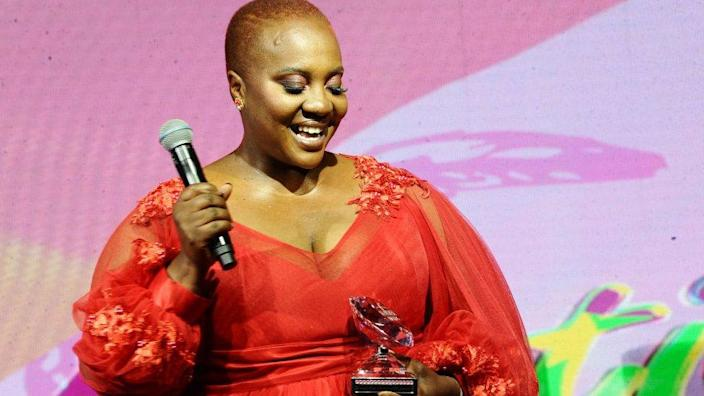 Dr Sindi Van Zyl during the 2019 Feather Awards