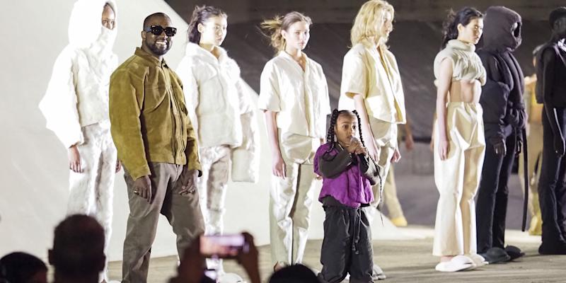 Watch Kanye's Daughter North West Rap at Yeezy Season 8 Fashion Show