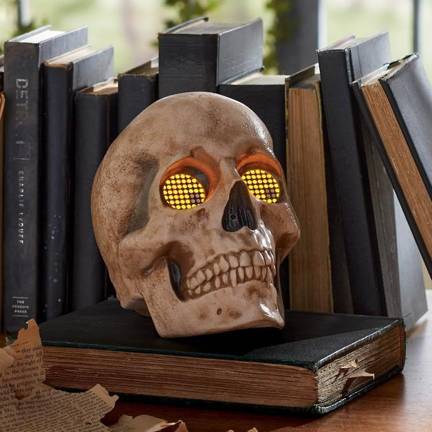 <p>The eyes on the <span>Skull With Animated Eyes</span> ($50) blink and move in various directions. </p>