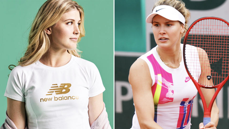 Eugenie Bouchard, pictured here in her New Balance gear.