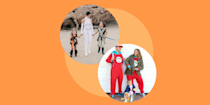 """<p>When you can pull off a <a href=""""https://www.goodhousekeeping.com/holidays/halloween-ideas/g1422/group-halloween-costumes/"""" rel=""""nofollow noopener"""" target=""""_blank"""" data-ylk=""""slk:group Halloween costume"""" class=""""link rapid-noclick-resp"""">group Halloween costume</a> with everyone in your family, the results are magic. They're creative, they're fun and they make a big impact in Instagram photos or walking down the street. But they're hard to do, because every member of the family has their own tastes, their own favorite characters and their own tolerance for what they'll put up with in a costume.</p><p>These family Halloween costumes are sure to be a hit. They're often from movies (like <em><a href=""""https://www.amazon.com/Addams-Family-Christopher-Lloyd/dp/B000XVK30S?tag=syn-yahoo-20&ascsubtag=%5Bartid%7C10055.g.28106766%5Bsrc%7Cyahoo-us"""" rel=""""nofollow noopener"""" target=""""_blank"""" data-ylk=""""slk:The Addams Family"""" class=""""link rapid-noclick-resp"""">The Addams Family</a>)</em>, games and franchises that have lots and lots of characters, so there's no squabbling over who gets the to be the star. Many of them are super comfortable and possible to pull together at the <a href=""""https://www.goodhousekeeping.com/holidays/halloween-ideas/g2750/easy-last-minute-halloween-costumes-diy/"""" rel=""""nofollow noopener"""" target=""""_blank"""" data-ylk=""""slk:last minute"""" class=""""link rapid-noclick-resp"""">last minute</a>. (Thank you, furry one-piece costumes!) And you can adapt them to include <a href=""""https://www.goodhousekeeping.com/holidays/halloween-ideas/g4570/best-baby-halloween-costumes/"""" rel=""""nofollow noopener"""" target=""""_blank"""" data-ylk=""""slk:baby costumes"""" class=""""link rapid-noclick-resp"""">baby costumes</a>, <a href=""""https://www.goodhousekeeping.com/holidays/halloween-ideas/g21729416/toddler-halloween-costumes/"""" rel=""""nofollow noopener"""" target=""""_blank"""" data-ylk=""""slk:toddler costumes"""" class=""""link rapid-noclick-resp"""">toddler costumes</a> and <a href=""""https://www.goodhousekeeping.com/holidays/halloween-id"""