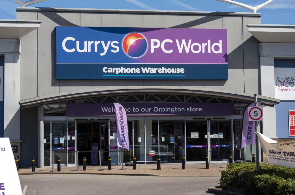KENT, UNITED KINGDOM - 2020/08/04: Tech retailer Dixons Carphone is to cut 800 jobs as it changes the way its stores are managed. The company, which owns Currys PC World, has already started to consult with the affected staff, as it begins to remove roles from its stores. Retail managers, assistant managers and team leader roles will be cut at the company, while new sales manager, customer experience and operational excellence manager positions will be created. (Photo by Dave Rushen/SOPA Images/LightRocket via Getty Images)