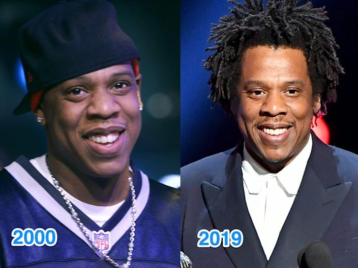 jay z then and now