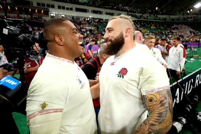 Kyle Sinckler (left) and Joe Marler are among those battling to stay fit during lockdown (David Davies/PA)