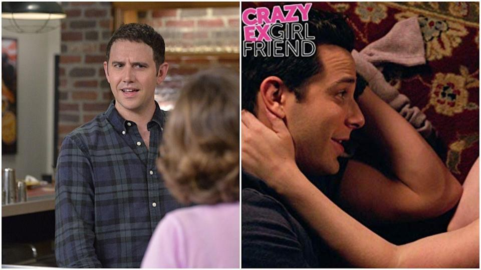 """<p><em>Crazy Ex-Girlfriend</em> actually managed to pull off this casting change super well. Greg originally left the show when his relationship with Rebecca blew up, which just <em>happened</em> to coincide with actor Santino Fontana returning to theater work. The show then <a href=""""https://www.vox.com/culture/2018/12/12/18136420/crazy-ex-girlfriend-season-4-episode-8-im-not-the-person-i-used-to-be-recap-greg-recast"""" rel=""""nofollow noopener"""" target=""""_blank"""" data-ylk=""""slk:brought Greg back"""" class=""""link rapid-noclick-resp"""">brought Greg back</a>—only this time he was played by Skylar Astin and we got a whole meta arc about how perceptions change over time. Santino was into the recasting, telling <em><a href=""""http://www.vulture.com/2018/08/santino-fontana-talks-skylar-astin-replacing-him-on-crazy-ex.html"""" rel=""""nofollow noopener"""" target=""""_blank"""" data-ylk=""""slk:Vulture"""" class=""""link rapid-noclick-resp"""">Vulture</a>,</em> """"I love Skylar! He's a buddy of mine. We've been texting, we've got a whole back-and-forth going. We're brothers from the same mother. That's what I'm calling it. Brothers from the same mother.""""</p>"""
