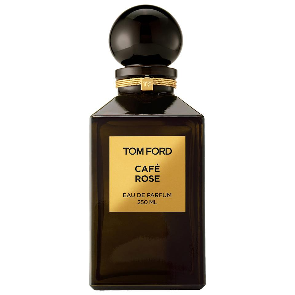 "<p><strong>Tom Ford</strong></p><p>sephora.com</p><p><strong>$605.00</strong></p><p><a rel=""nofollow"" href=""https://www.sephora.com/product/cafe-rose-P393157"">Shop Now</a></p><p>If you want a rich scent, look no further than Tom Ford's intoxicating blend of rose, saffron, and black pepper alongside warms notes of coffee. Café Rose is unique and hypnotic in its own right, and spraying it is the fragrance equivalent to wrapping yourself in a luxurious cashmere blanket. </p>"