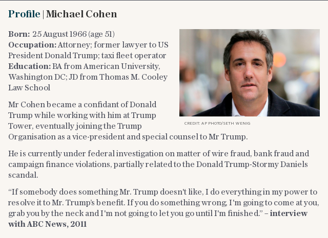 Michael Cohen claims Trump 'knew of Russian lawyer meeting'