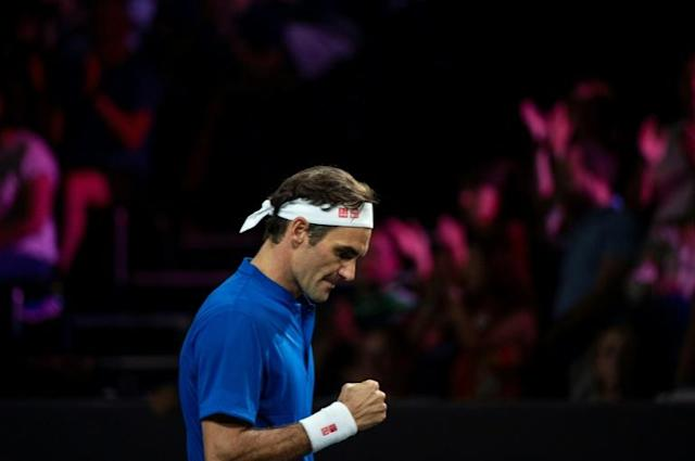 Roger Federer took the Laver Cup to the last match with a win over John Isner (AFP Photo/ROMAIN LAFABREGUE)