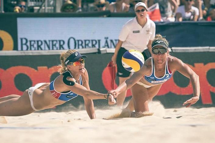 April Ross and her volleyball partner, Kerri Walsh Jennings, spend a lot of time in the sun. (Photo: Instagram)