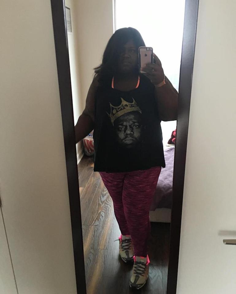 """<p>After her procedure, Gabby was more motivated than ever to work out and stay healthy … but some outfit inspo always helps. """"Sometimes the only motivation I have to go to the gym is a coordinated outfit. Turns out, that's enough,"""" she shared. (Photo: <a rel=""""nofollow"""" href=""""https://www.instagram.com/p/BPkxiqJAFPS/"""">Instagram</a>) </p>"""
