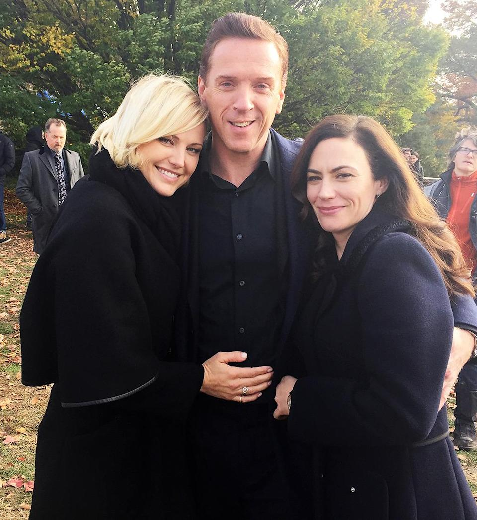 """<p>Some of the most talented cast I've ever gotten to work with. These guys make it look easy! #billions — <a href=""""https://www.instagram.com/therealmalinakerman/"""" rel=""""nofollow noopener"""" target=""""_blank"""" data-ylk=""""slk:@therealmalinakerman"""" class=""""link rapid-noclick-resp"""">@therealmalinakerman</a></p><p><i>(Credit: Instagram)</i><br></p>"""