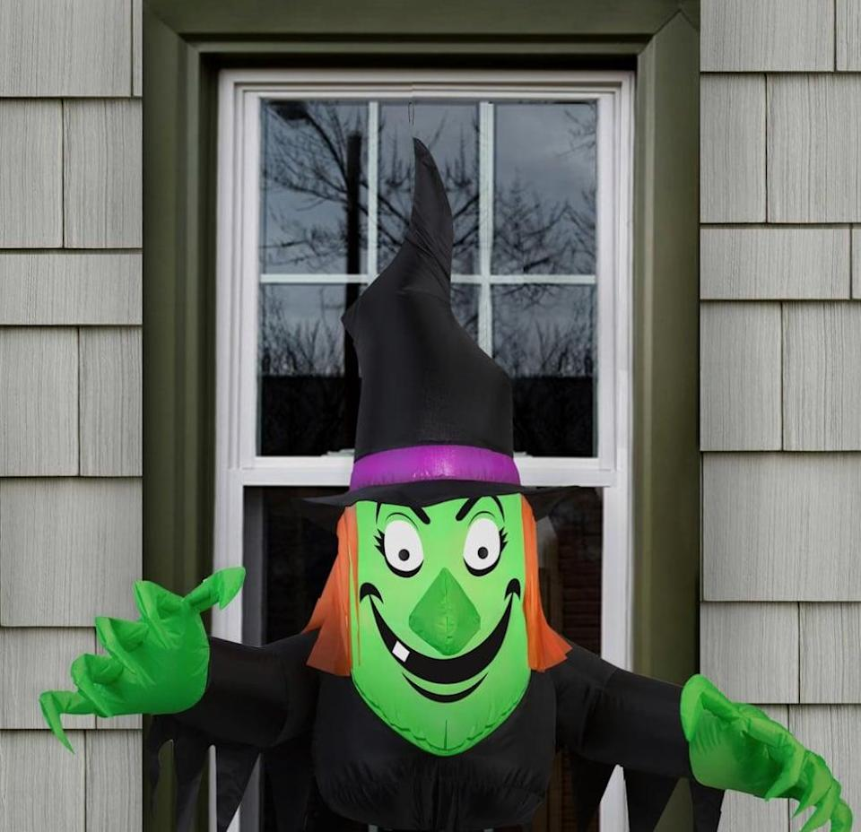 <p>Your block will get a laugh out of this <span>Inflatable Window Witch</span> ($40). Safe for outdoor use, the inflatable doubles as a night-light with its LED light insert, and it includes durable suction cups so you can attach the decoration to any door, window, or wall you see fit. </p>