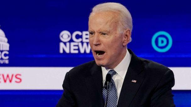 PHOTO: Democratic 2020 U.S. presidential candidate Joe Biden speaks during the tenth Democratic 2020 presidential debate at the Gaillard Center in Charleston, South Carolina, Feb. 25, 2020. (Jonathan Ernst/Reuters)