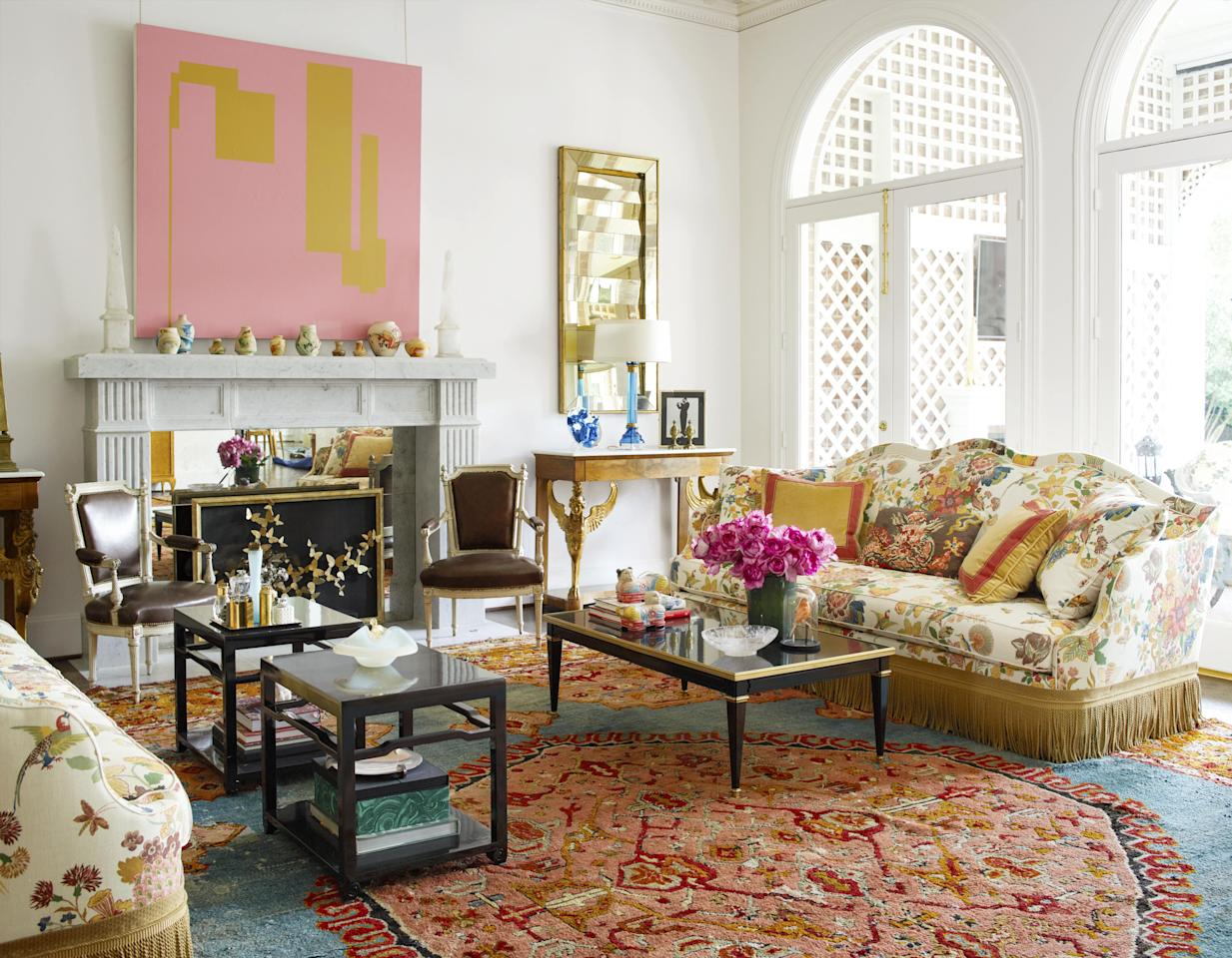 "<p>You've already tackled those stark walls with <a href=""https://www.veranda.com/decorating-ideas/color-ideas/g1021/unexpected-color-in-veranda/"" target=""_blank"">exuberant paint shades</a> and <a href=""https://www.veranda.com/decorating-ideas/g30380924/wall-decor-ideas/"" target=""_blank"">innovative wall accents</a>, but now it's time to turn your attention to those bare floors. Enter design's unsung hero: the area rug. Both transformative and essential, rugs have the ability to soften the mood of any room while adding bursts of color and texture. <br></p><p>With the endless amount of materials, varying sizes, and perplexing construction techniques, finding the picture-perfect rug for your space can feel impossible. However, the hunt is so worth with it once you lay down that lucky find from your favorite store or the nearby antiques store, and the entire room instantly comes together.<br></p><p>Below, see how the industry's top designers use area rugs to their advantage in these 18 stunning rooms from our <em>Veranda</em> archives. We guarantee you'll be hitting up all your local haunts for the rug of your design dreams.<br> </p>"