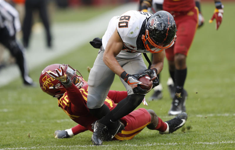 Iowa State's Allen Lazard had insane, tipped-pass TD catch